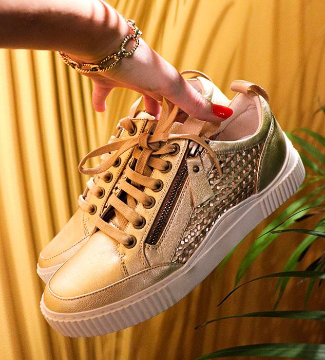 Baskets dorées Idrac par REGARD Chaussures