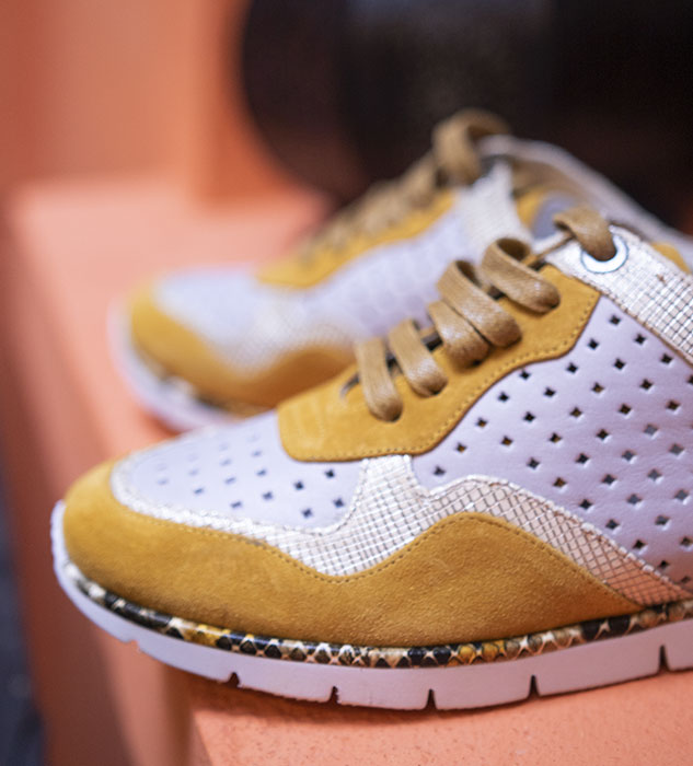 Baskets Jard jaune REGARD Chaussures