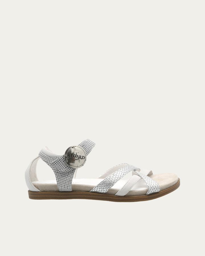 Sandale Berney blanche et argent