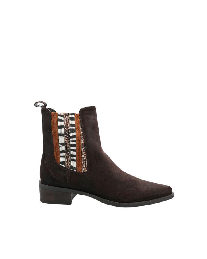 Bastia boots folk femme marron