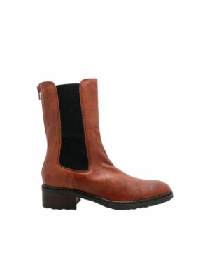 Boots Damgan cuir chataigne femme