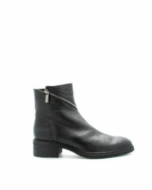 Boots Darnac en cuir noir