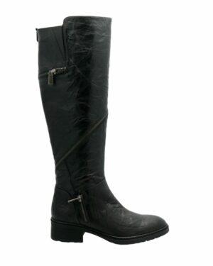 Bottes Desert cuir noir femme rock