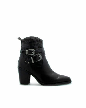 Bottines Elvis en cuir noir