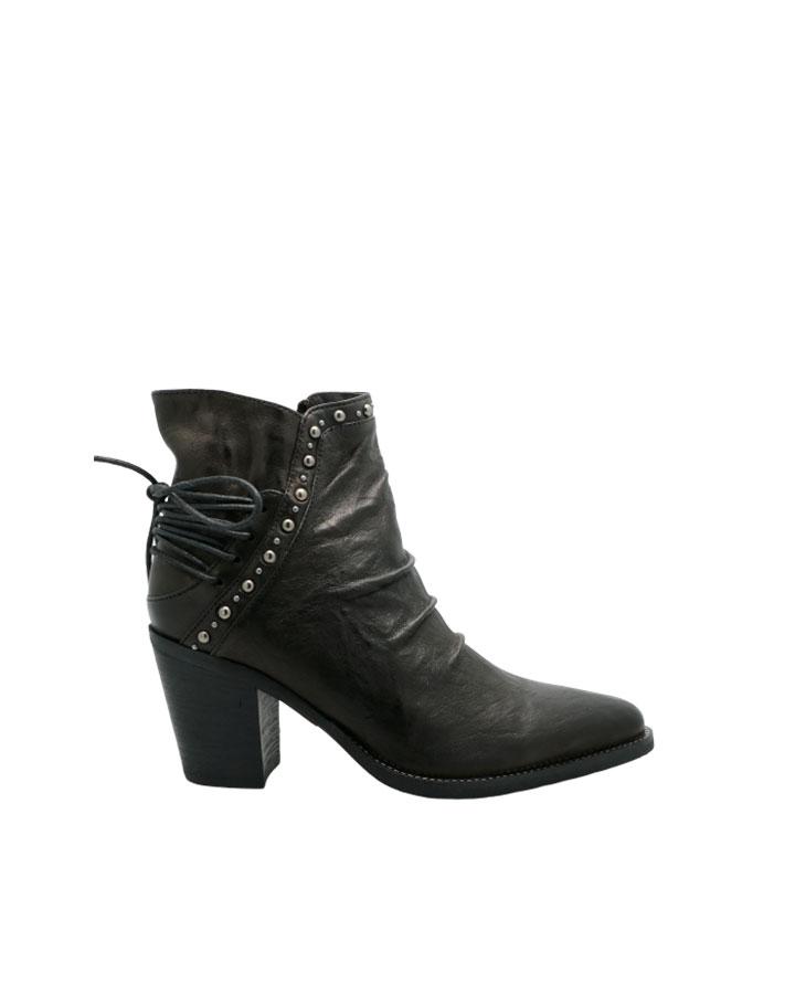 Bottines Evian en cuir noir