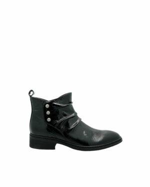 Boots Good en cuir noir
