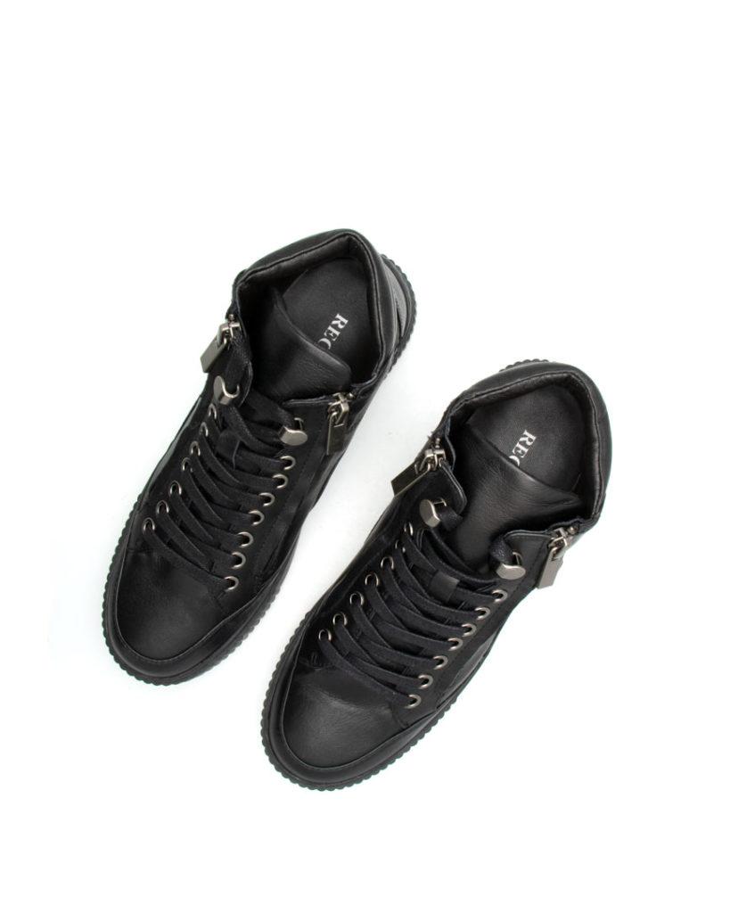 Basket Islande sport cuir noir