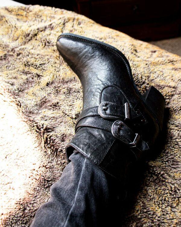 Bottines Elvis en cuir noir