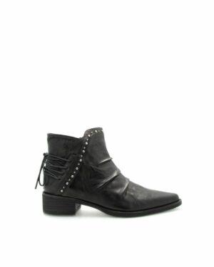 Boots Biarritz cuir noir femme
