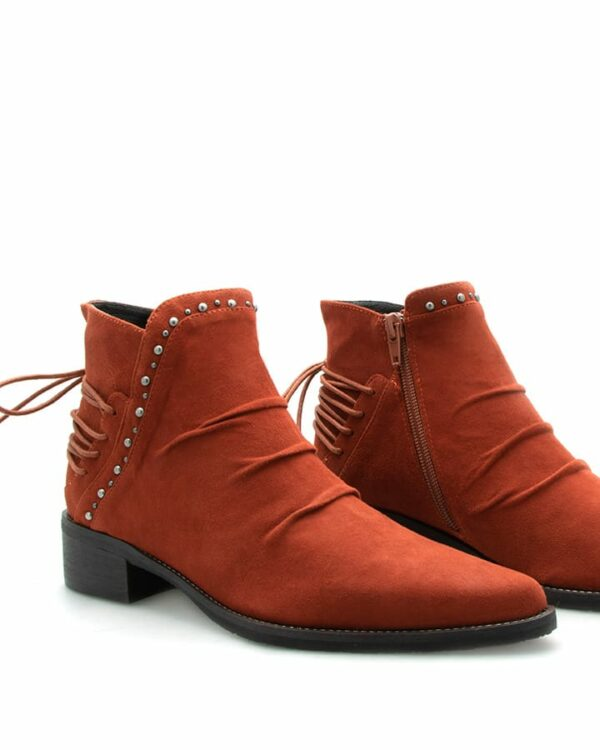 Boots Biarritz velours tuile femme