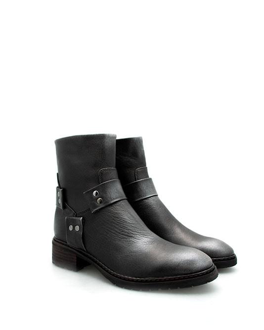 Bottine noir dijon femme cuir noir
