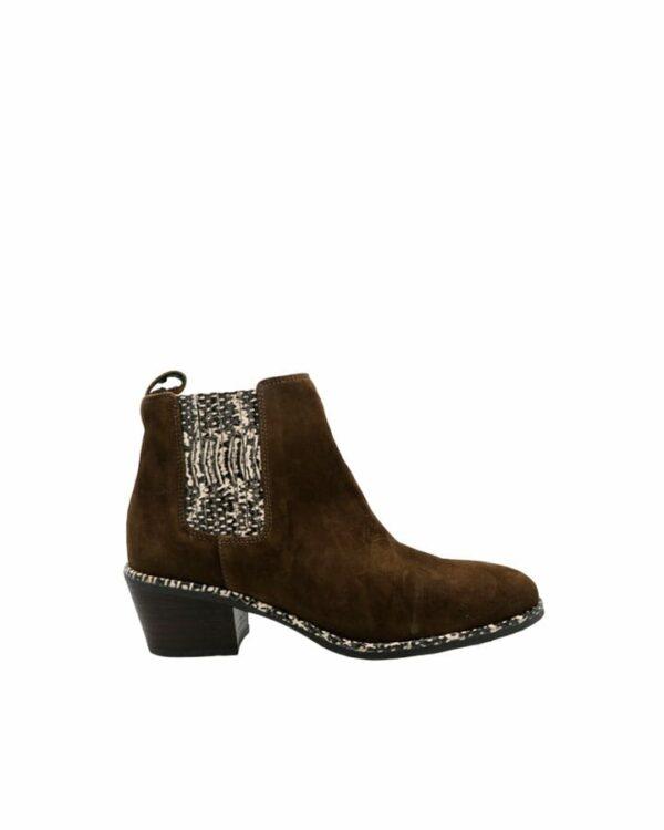 Boots Noisy velours kaki femme