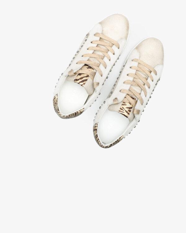 Baskets Tendance Havres cuir doré