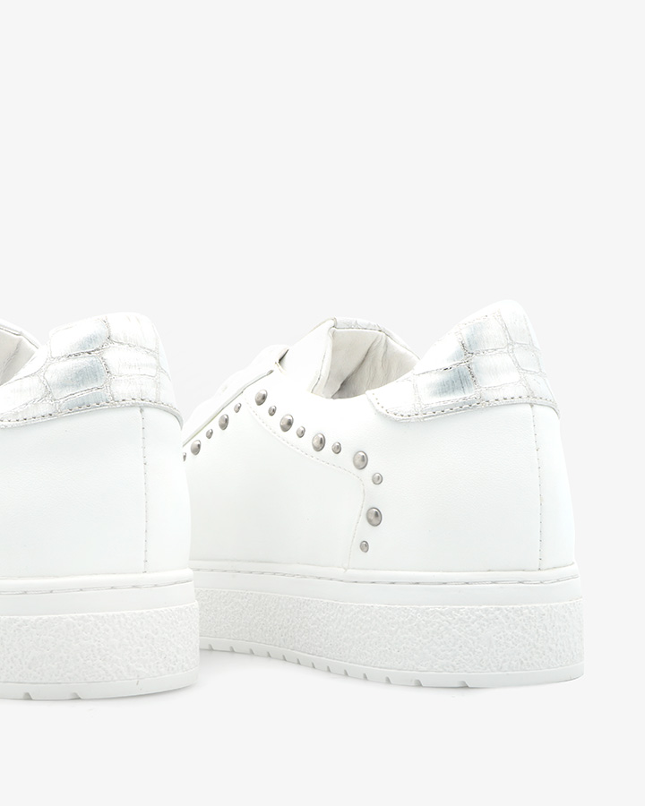 Baskets confort cuir blanc