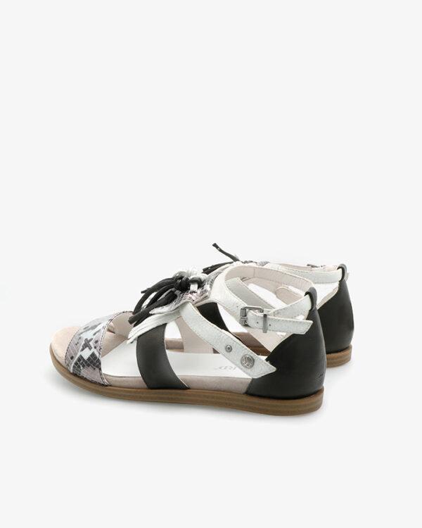 Sandales originales Bastil noir et argent