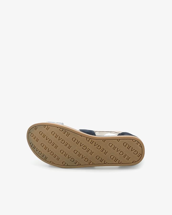 Sandales plates originales Bastil bleu