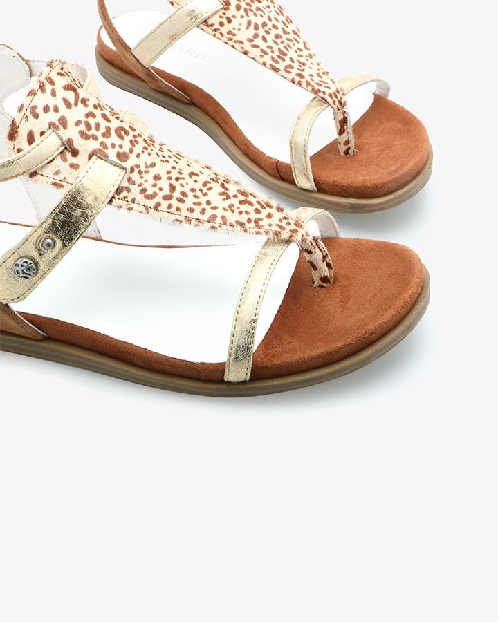 Nu-pieds cuir femme camel