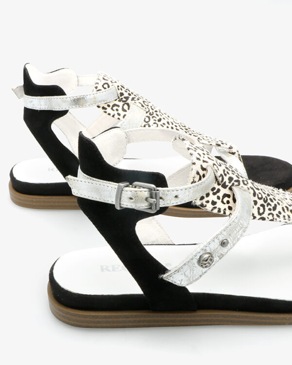 sandales nu-pieds cuir noir