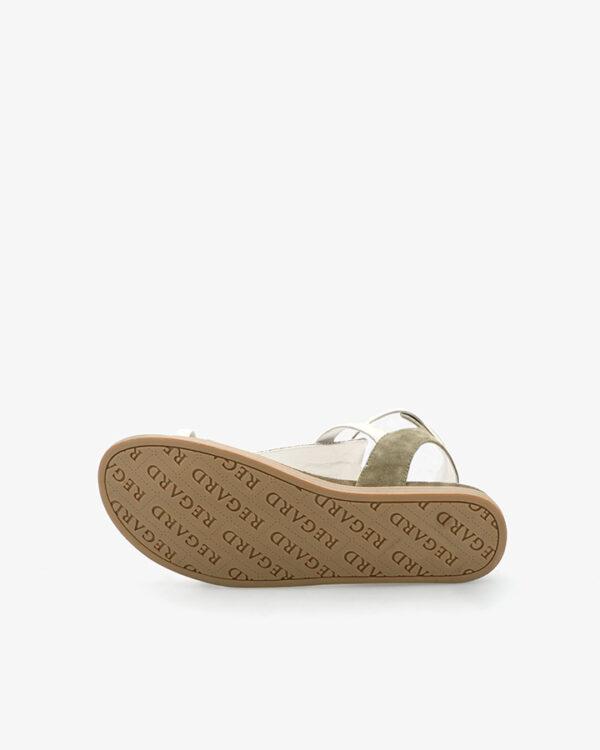 Sandales femme originales Kaki Bazur