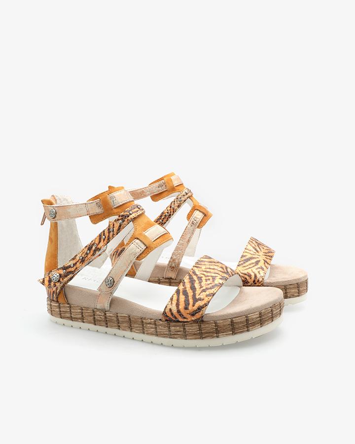 Sandale espadrille plateforme colorée