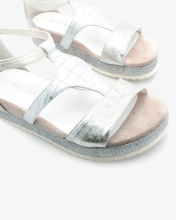 sandale plateforme blanche femme