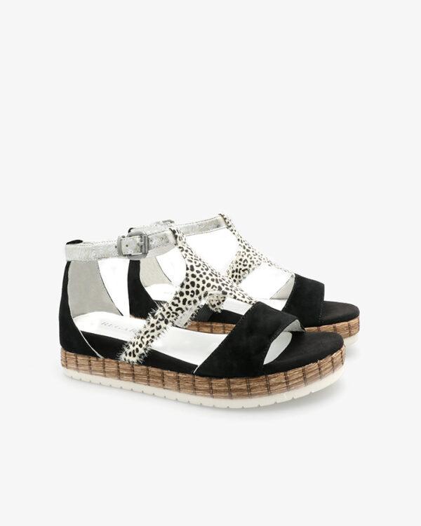 sandale talon tendance noir femme