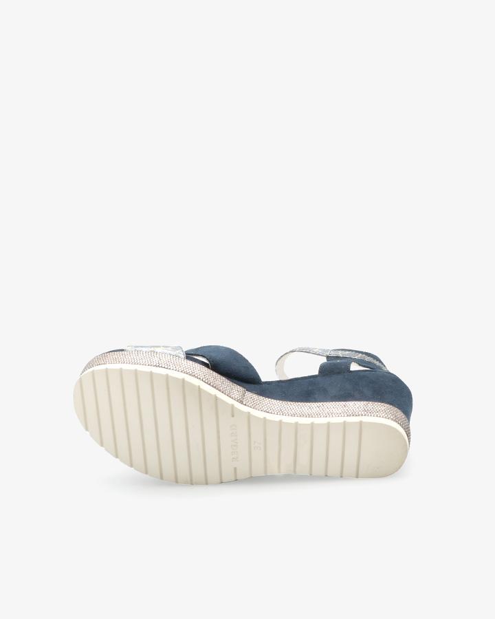 sandales talon bleu marine femme