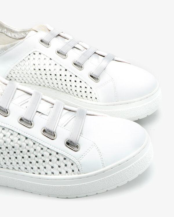 Sneakers Cuir Blanc Ajouré Hem