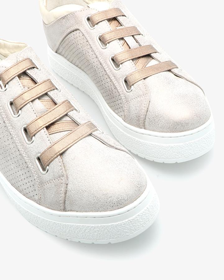 Sneakers Cuir Bronze Ajouré Hem
