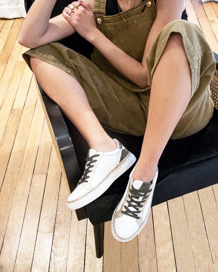 Sneakers cuir blanc Kifis