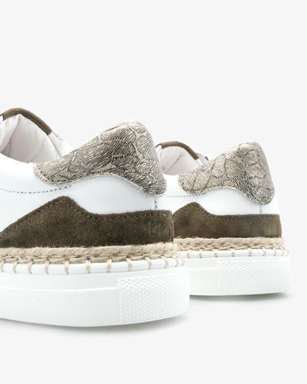 Baskets blanche kaki Kifis Femme