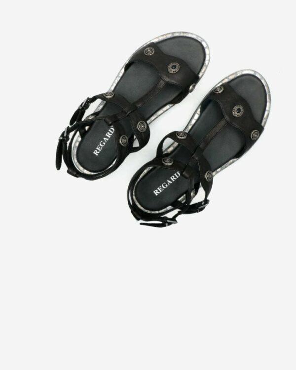 Sandales confort femme noir