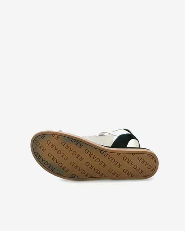 sandales plates tendance noir femme Bazur