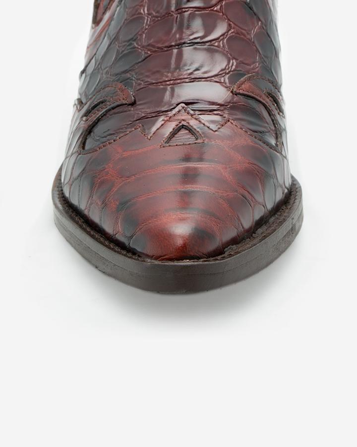 Bottines serpent femme cuir
