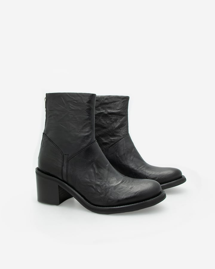 Boots rock femme cuir