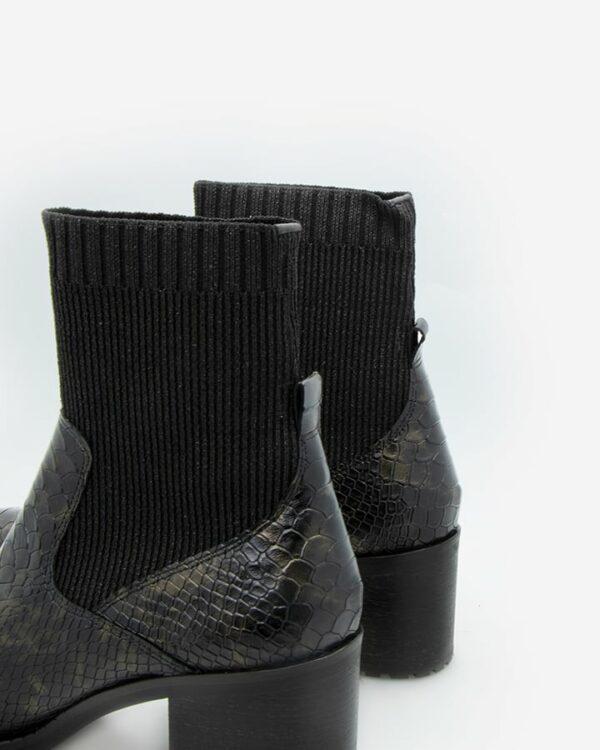 Bottines chaussettes python femme