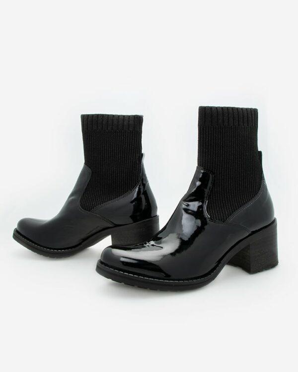 Bottines chaussettes noires femme Ubix