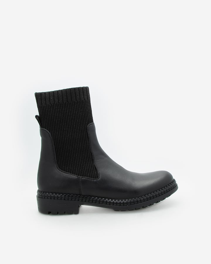 bottines chaussettes noires femme