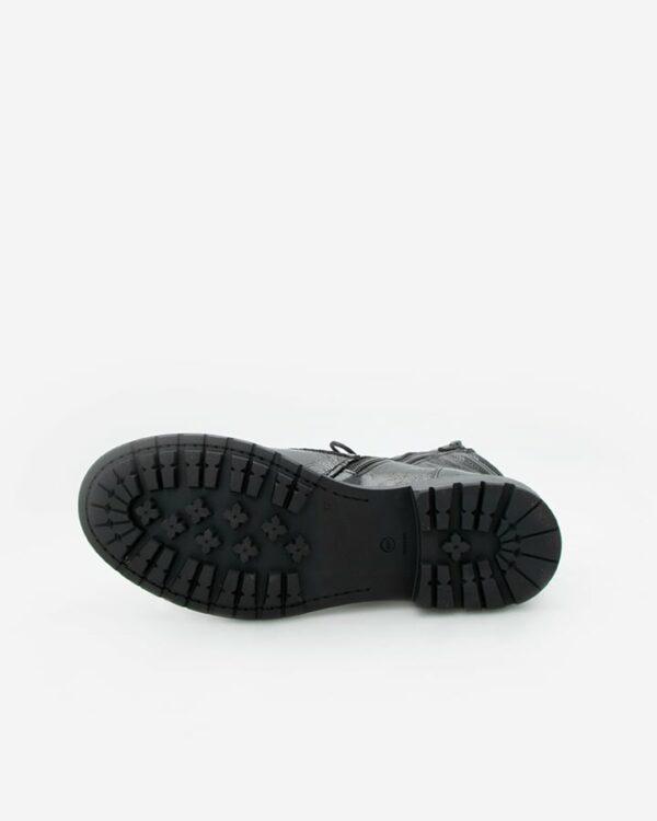 bottines vernies noires plates