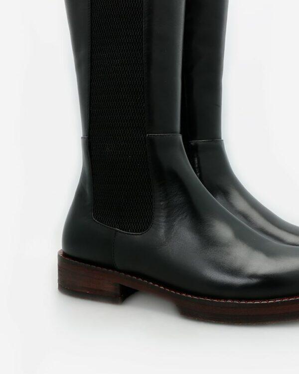 bottes cuir noir femme