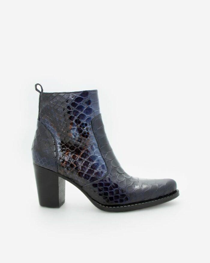 boots python femme bleu