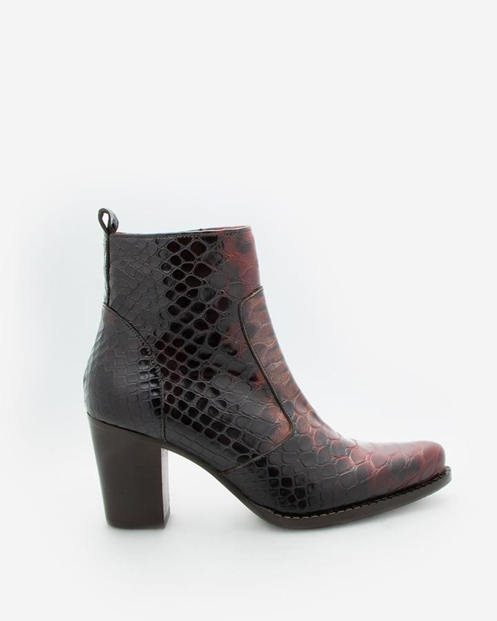 boots serpent femme rouge