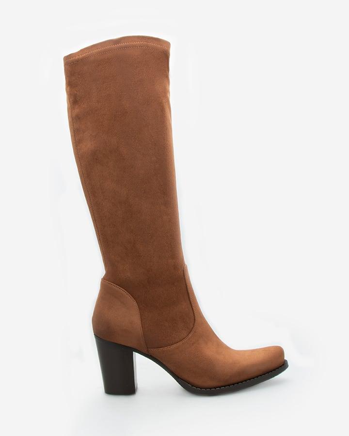 bottes stretch marron femme