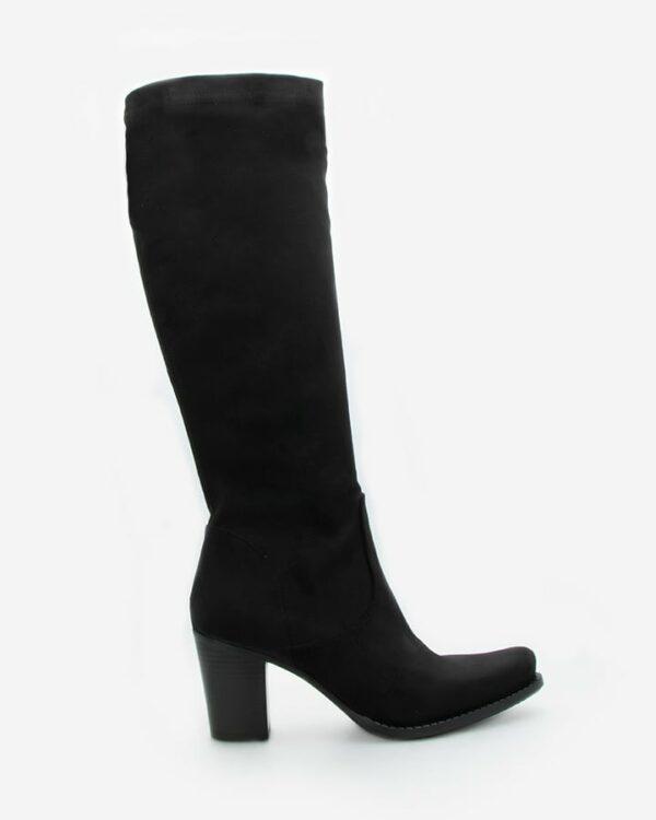 bottes stretch femme noir