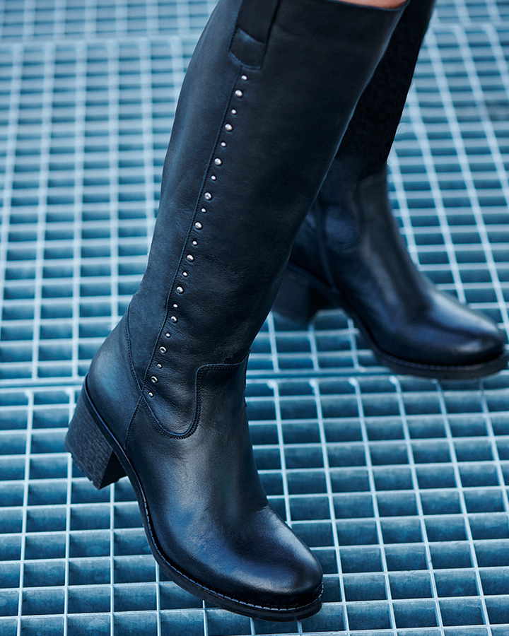 bottes femme talon noir