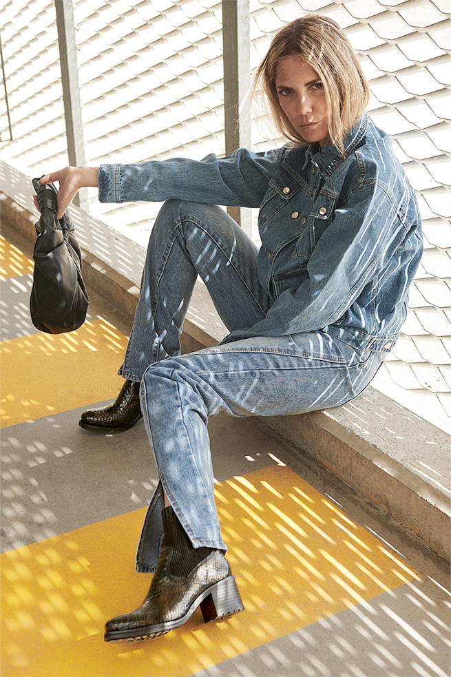 Boots rock femme kaki
