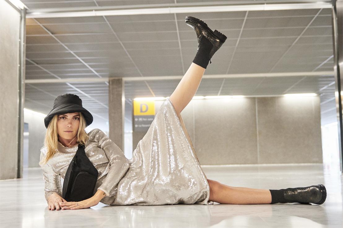 Boots python rock femme